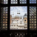 View of the Basilica domes from the Great Council hall in the Palazzo Ducale