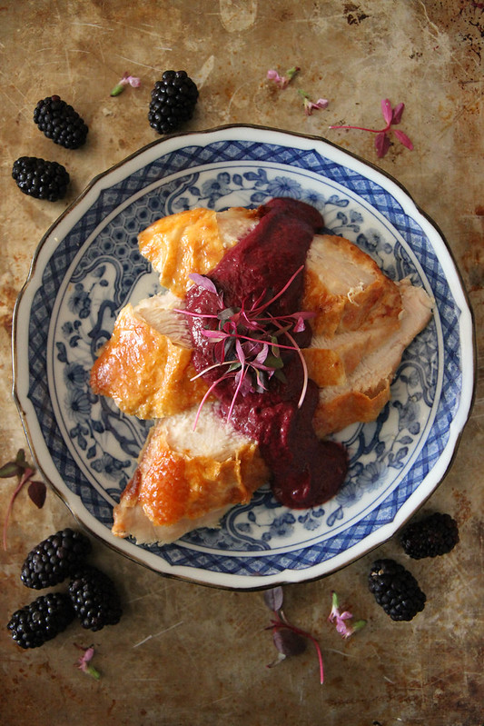BBQ Turkey Breast with Blackberry Jalapeno Sauce