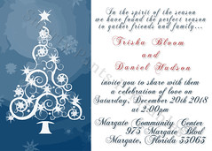 Winter Tree Wedding Invite