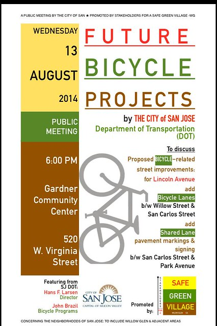 san jose future bikeways meeting August 13