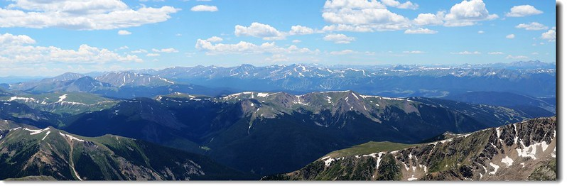 View to the Southwest from Grays Peak's summit