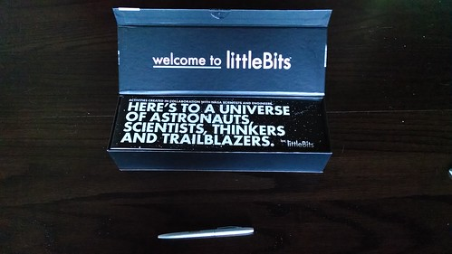 littleBits Space Kit with pen, for scale