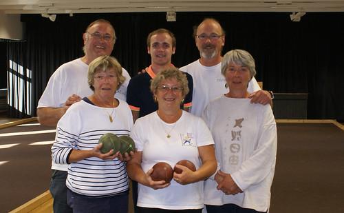 15/08/2014 - Saint Jean du Doigt : Les finalistes du concours de boules plombées en triplettes formées
