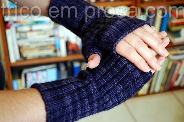 blog Tricô em Prosa - cabeça louca - Simples meias-luvas para o Diogo