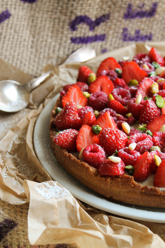 tarte aux fruits rouges vegan