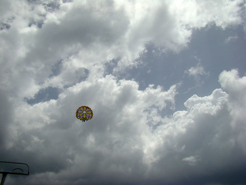 Friends parasailing - Aug. 14th