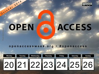 2014 Open Access Week, October 20-26  #oaweek #oaweek2014 #openaccess @SPARC_NA @openscience @OA_Button (Poster @ronmader)