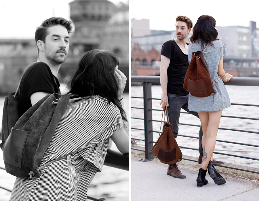 Hevan Berlin backpack couple shooting Berlin Kreuzberg cute story fashion men girl boy nautical river fashion blogger CATS & DOGS Ricarda Schernus 5