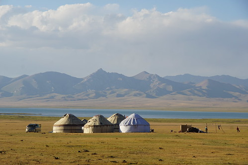 Our yurt camp at Song-Kul