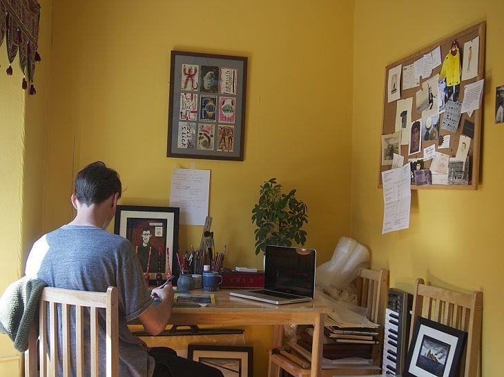 Sam Caldwell Artist Studio