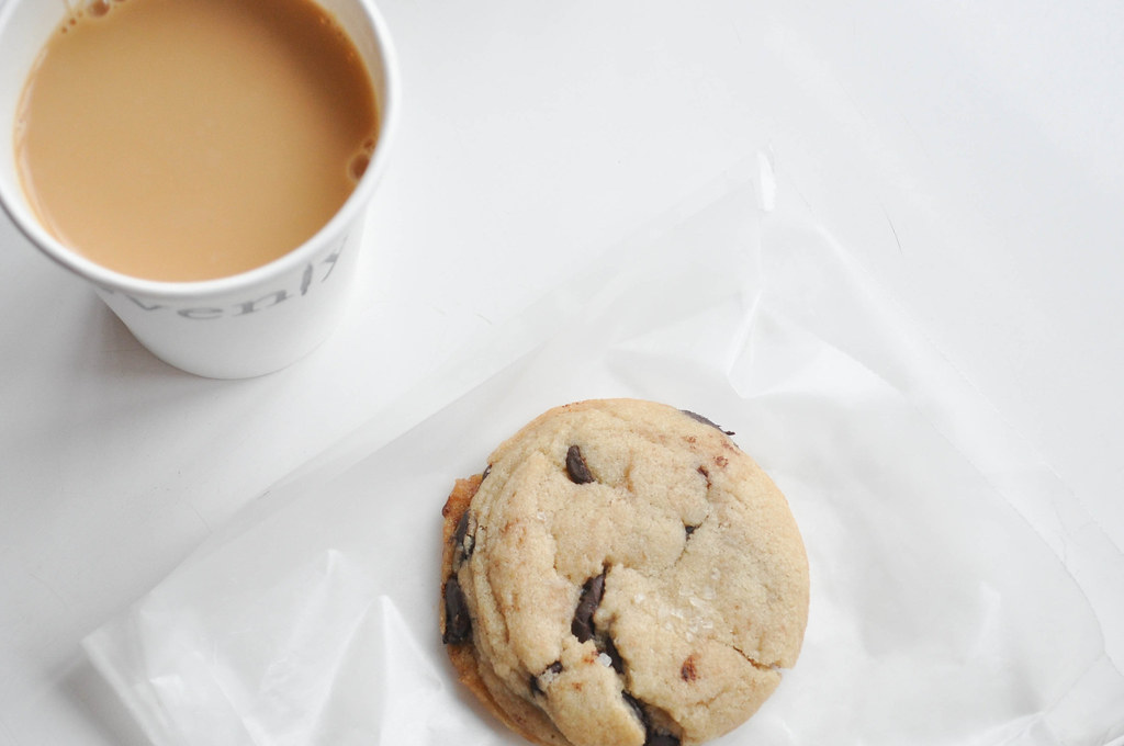 the city's best cookie (salted chocolate chip) and stumptown drip coffee at Ovenly