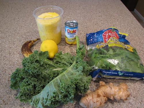 Tropical Green Smoothie Ingredients