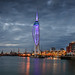Moody Spinnaker Tower by Sunset Snapper