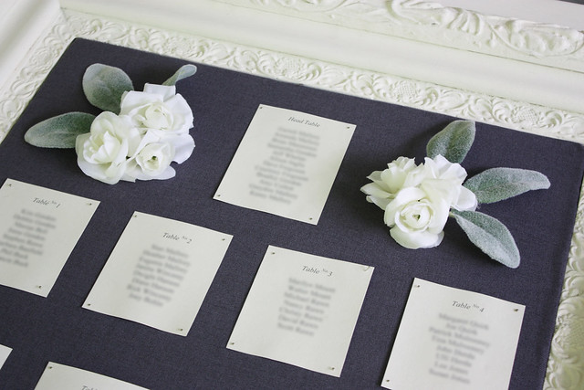 A Simple & Elegant Vintage Frame Seating Chart {Wedding Wednesday ...