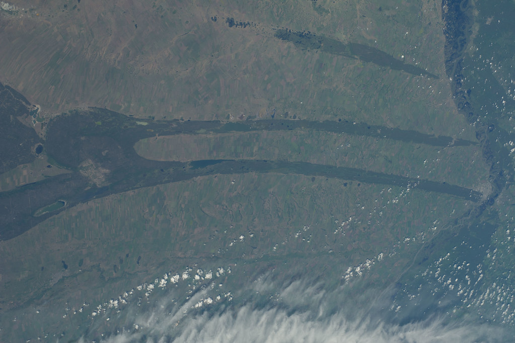Kulunda Steppe, Siberia (NASA, International Space Station, 06/30/14)