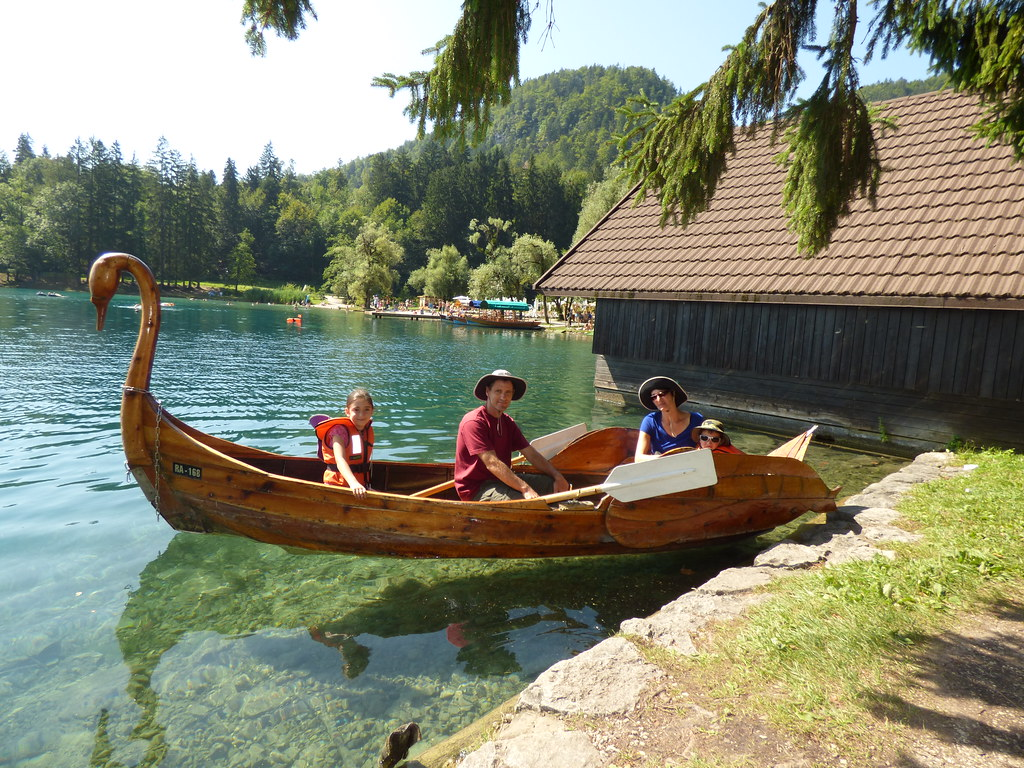 In a boat on Bled Lake