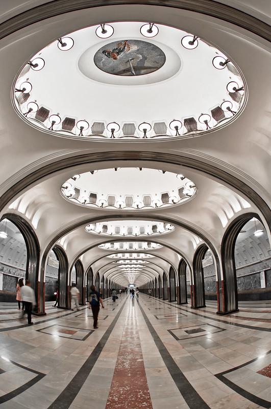 Majakovskaya Metro Station, Moscow