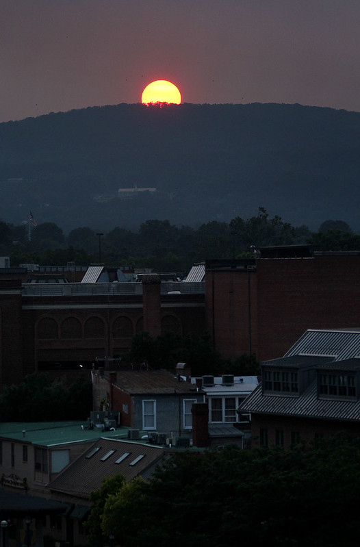 Sunset over Frederick