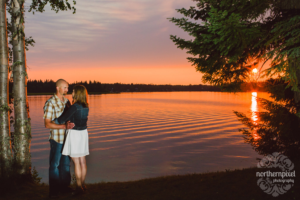 Sunset Engagement Session - Prince George BC