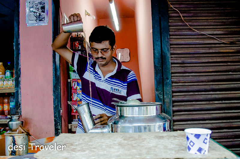 A Chaiwala in Trivandrum Kerala