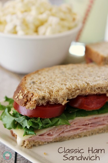 Classic Ham Sandwich - perfect for lunch or a quick dinner! #sandwiches #ham #ad