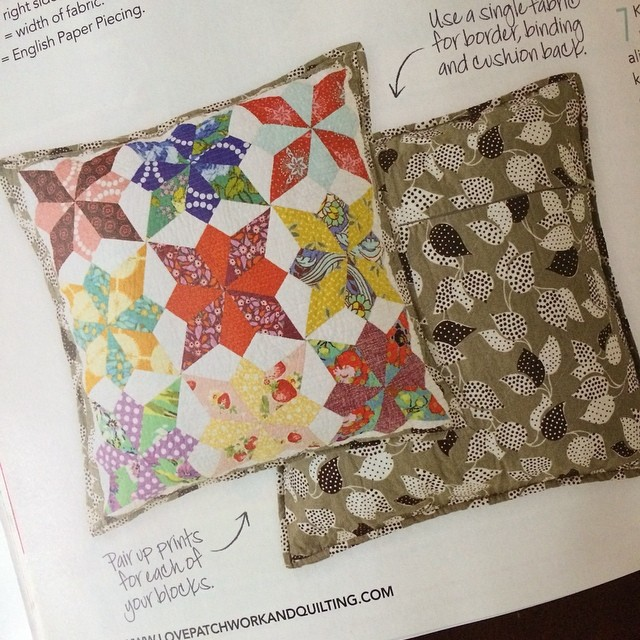 Oh, and lookie there, that's my project in a magazine. Weeeee!  @lovequiltingmag