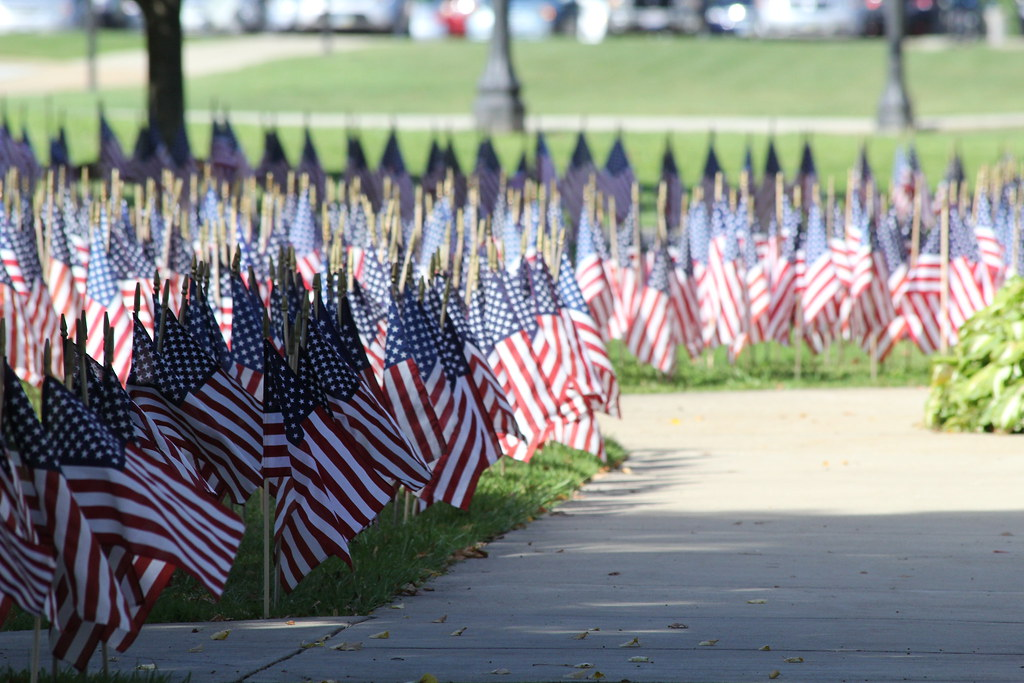 Kent State Ashtabula Student Veterans Association 2014 'Field of Honor' display (Sept. 8, 2014)