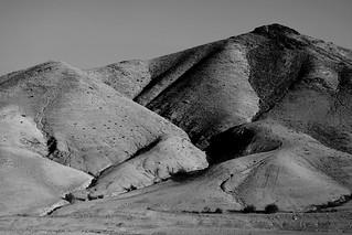 Desert hills B&W