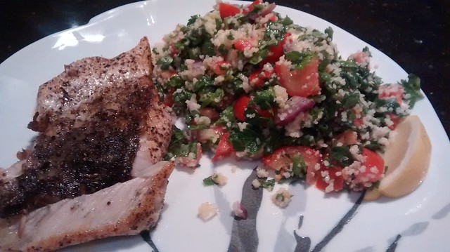 Sumac Barramundi with Tabbouleh