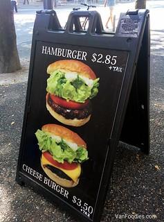 Hamburger $2.85