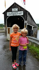 The Kids In Front Of The World's Longest Covered Bridge