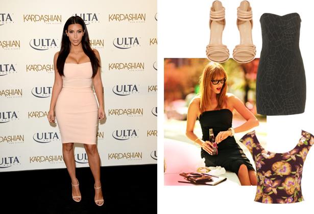 Kim Kardashian style body con
