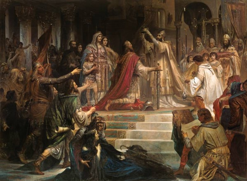 Imperial Coronation of Charlemagne, by German painter Friedrich Kaulbach