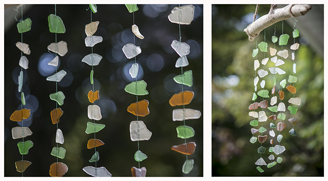 sea glass mobile