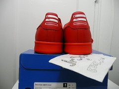 ADIDAS x PHARRELL WILLIAMS STAN SMITH SOLID PACK RED Size 12