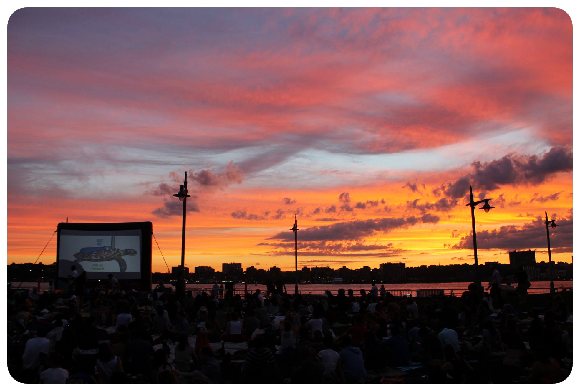 open air cinema hudson river