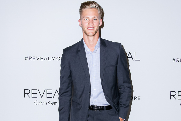 Clark Brockelman at the Calvin Klein Reveal launch