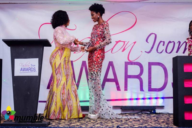 Ghanaian International model Victoria Michaels at 2014 Fashion Icon Awards