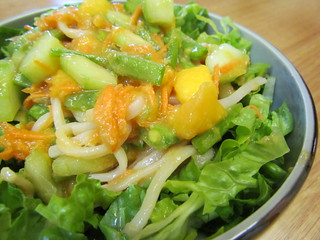 Mango and Snow Pea Salad