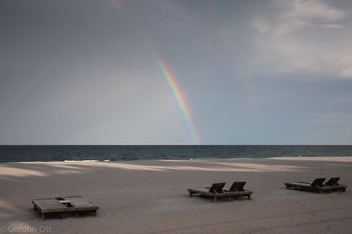 ocean beach rainbow florida deckchairs