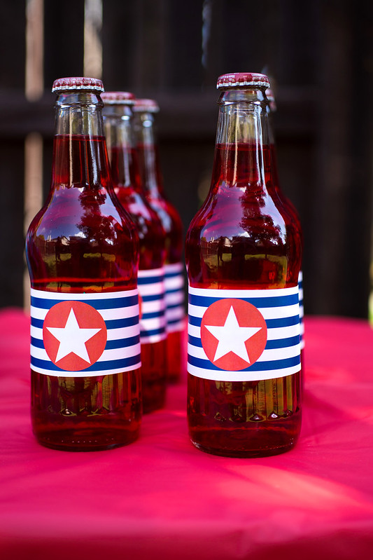 Captain America Party Drinks #HeroesEatMMs #Shop