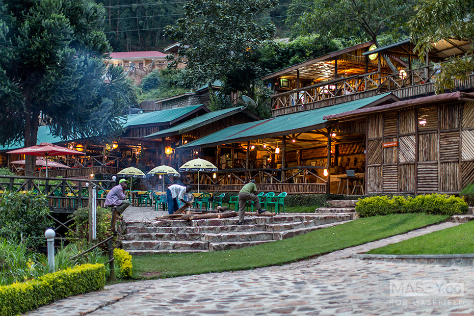 The legendary 'Lake Bunyonyi Overland Resort' bar.