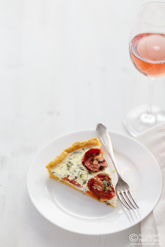 Polenta Tomato Basil Tart (0072)