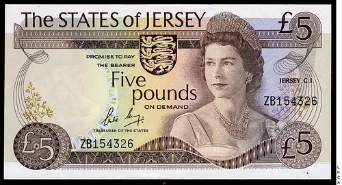 Jersey Five Pounds replacement note
