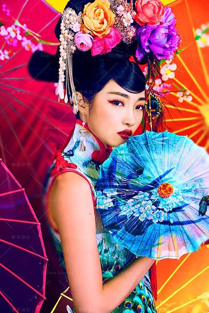 台中婚紗,婚紗照,中式禮服