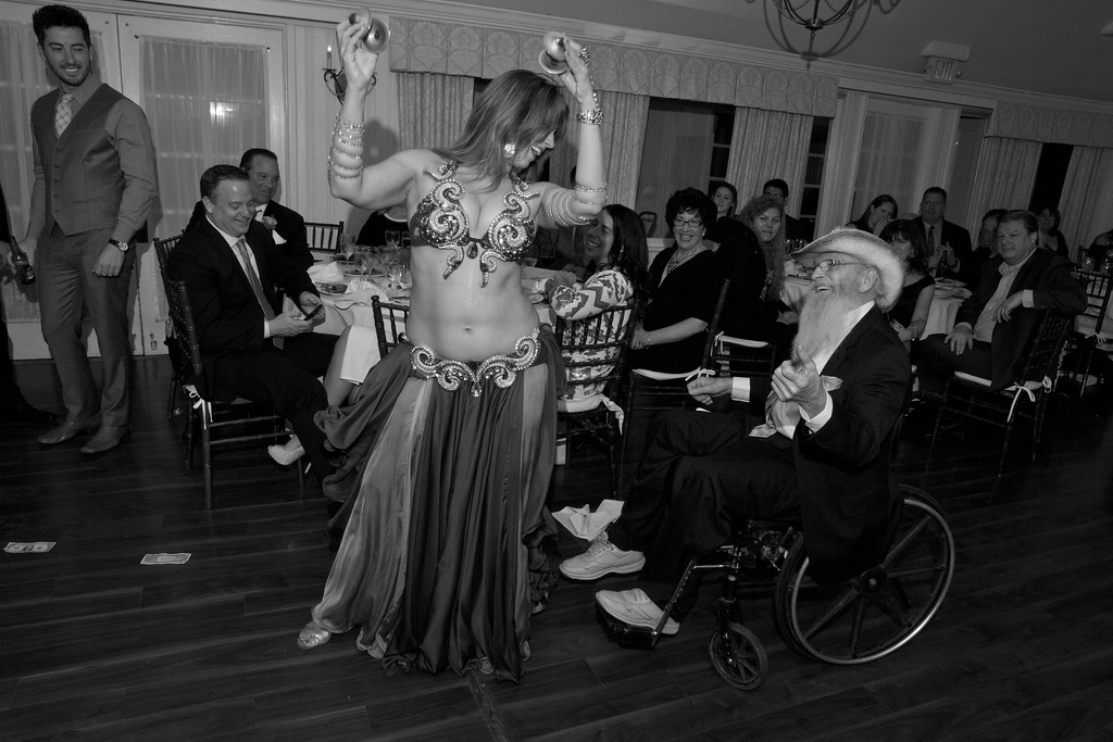 Mariyah Bellydancer NYC at a wedding