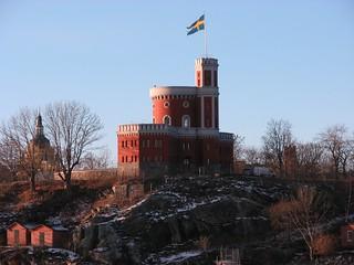 Image of Kastellet. sweden sverige stockholm 2016 november canon kastellholmen kastellet citadel швеция стокгольм крепость кастеллет