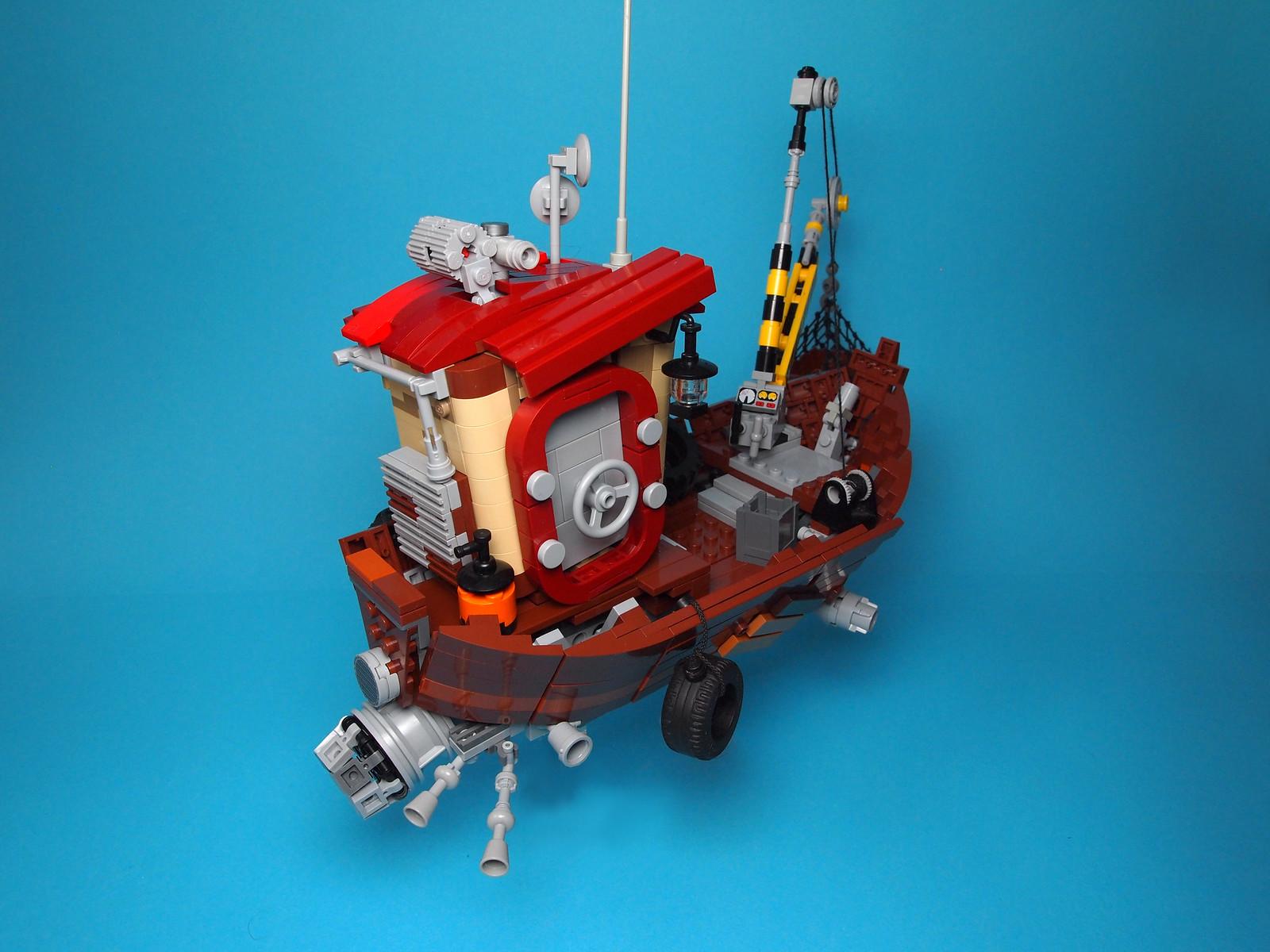 lego самоделка корабль