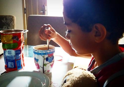 Meu Baby no seu cafe da manhã