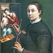 Sofonisba Anguissola -  Self portrait at easel [1556] by petrus.agricola